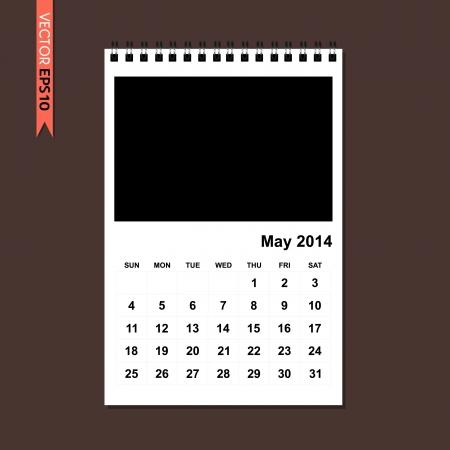 May 2014 calendar vector Stock Vector - 21464728