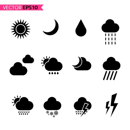 weather terms: Weather icons set 2 Illustration