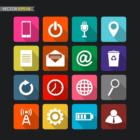 Website icons collection Stock Vector - 21934037