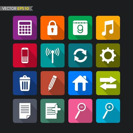 Website icons collection vector set 2 Vector