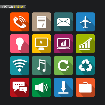Website icons collection vector set 3 Stock Vector - 22285812