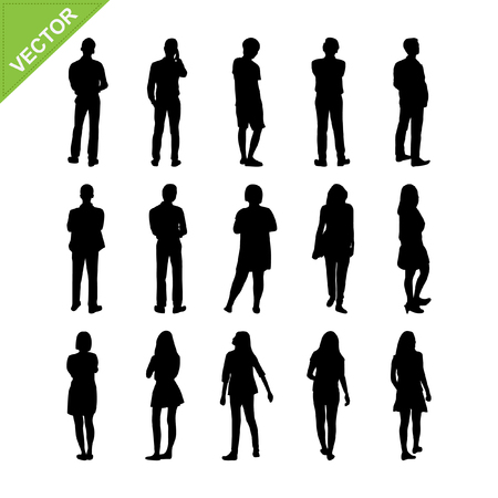 person: Peoples silhouettes vector