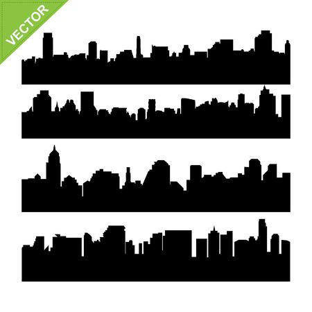 Skyline silhouettes vector Stock Vector - 23111826