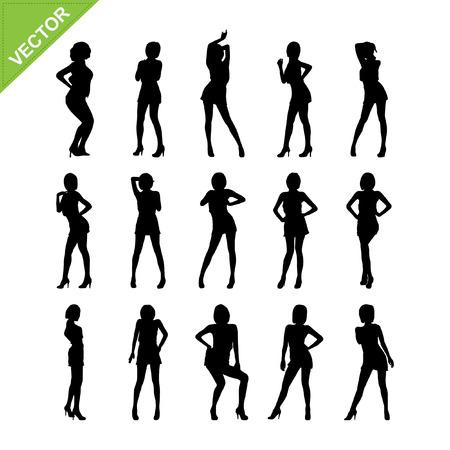 adn: Mujeres sexy ADN siluetas bailando