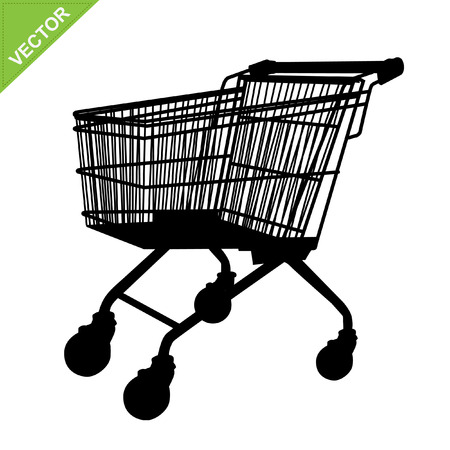 product cart: Shopping cart silhouette