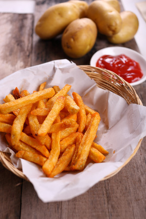 french: french fries with tomato sauce