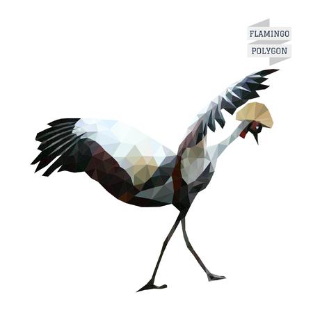 flamingos: Flamingo polygon vector