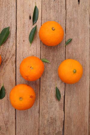 ornage: Ornage fruit on wooden background Stock Photo