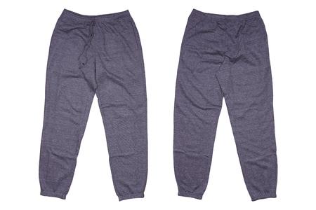 Isolated gray sweatpants
