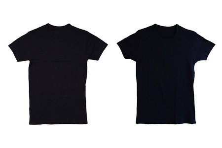 layout template: Black tshirt isolated