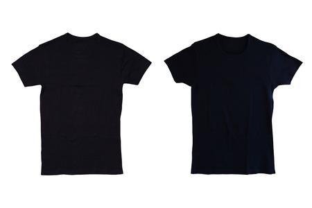 sjabloon: geïsoleerde zwarte t-shirt
