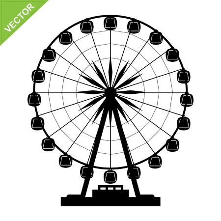 ferris: Ferris wheel silhouettes Illustration
