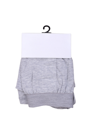 boxer shorts: Isolated gray men boxer shorts