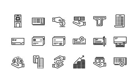 Banca y finanzas iconos conjunto Foto de archivo - 98013451