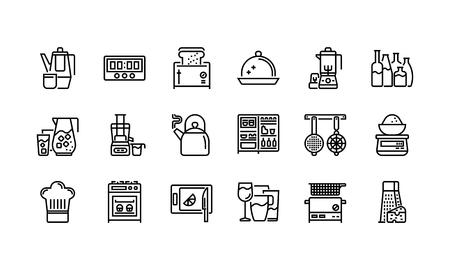 Küche und Kochgeschirr Icons Set 2