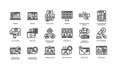 Digital marketing icons set 2