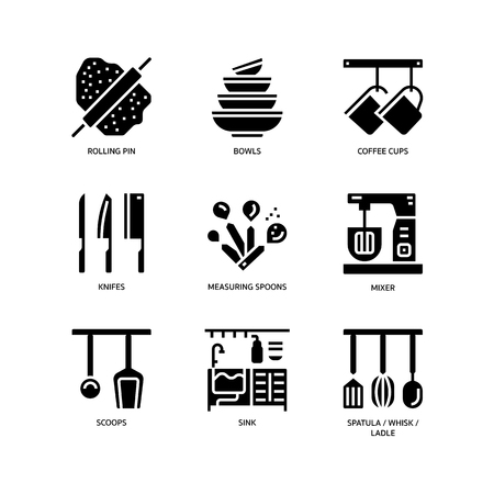 Kitchen and cookware icons
