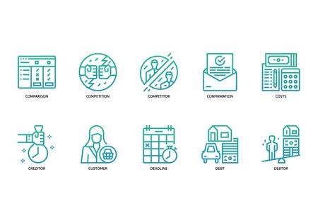 Business icons set 矢量图像
