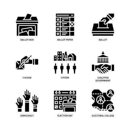Election icons set