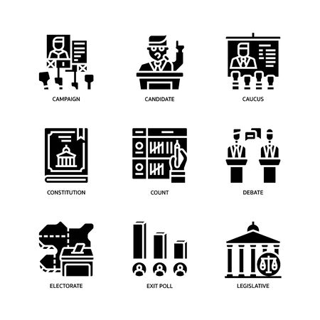 Election icons set Vektorgrafik