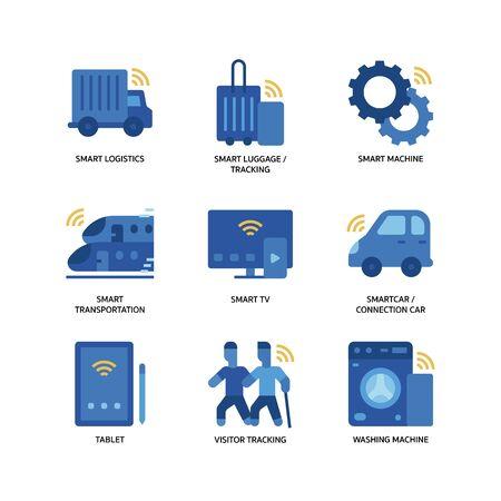 Internet of things icons set Ilustrace