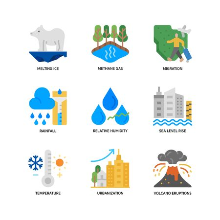Climate Change icons set