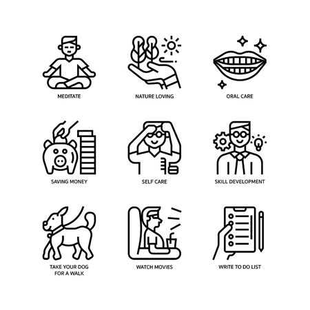Smart life icons set Ilustrace