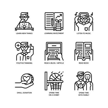 Smart life icons set Çizim