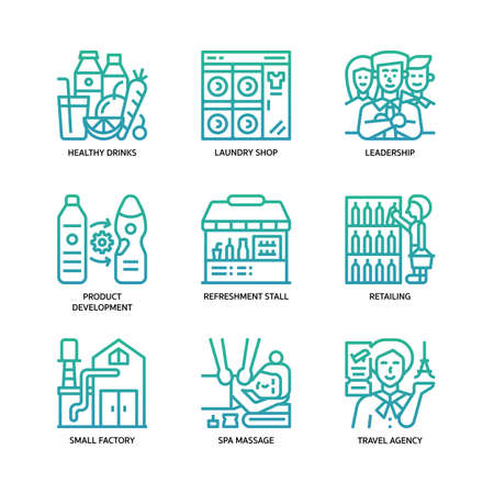 Small business icons set