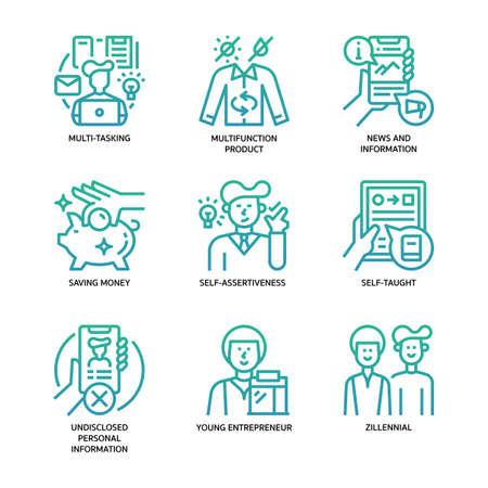 Generation Z Icons Set