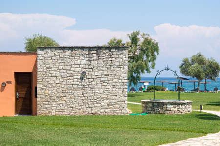 accommodation: Idyllic seaside accommodation. Summer vacation Stock Photo