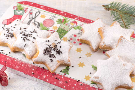 homemade cookies: Home baked and shaped Christmas cookies dessert