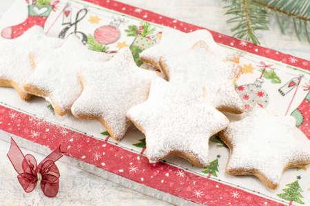 home baked: Home baked and shaped Christmas cookies dessert