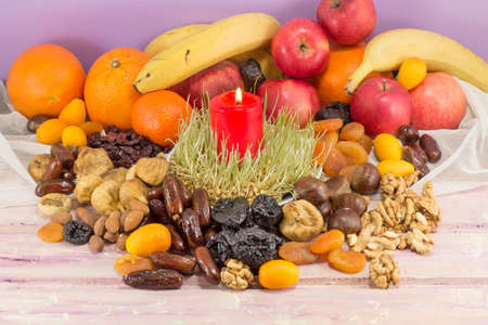 dry fruit: Christmas Eve dry fruit offerings served on the table