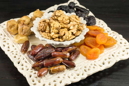 offerings: Christmas Eve dry fruit offerings served on the table