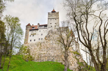 View at Bran Castle, Romania also known as Dracula Castle