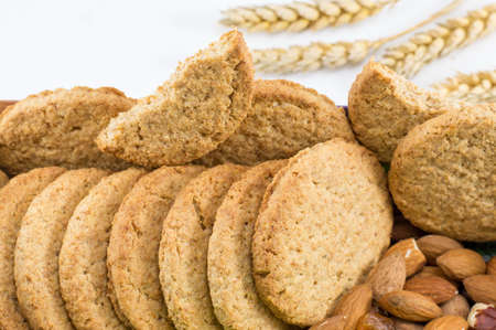 integral: Bunch of Integral cookies with fresh almonds