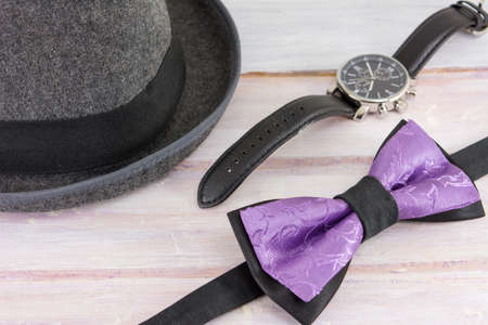 combinations: Male accessories possible combinations. Fashion abstract