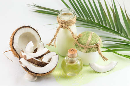 coconut milk: Coconut products with fresh coconut, Coconut milk and oil