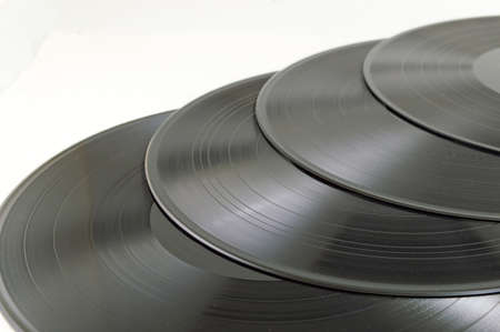 vinyl records: Old vinyl records on a pile