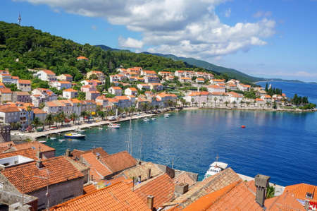 Korcula island in Croatia, Europe. Summer vacation destination