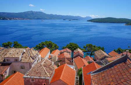 vacation destination: Korcula island in Croatia, Europe. Summer vacation destination