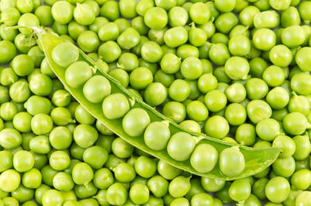 green been: Fresh raw organic peas ready for cooking lunch