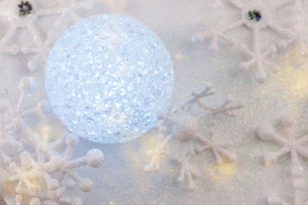 Christmas ball ornament with snowflake decoration