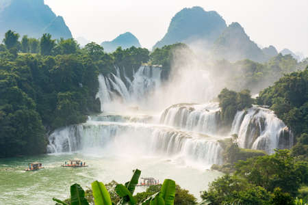 Stunning view at Detian waterfalls in Guangxi province China
