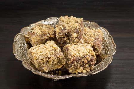 special walnut lamingotns on a plate