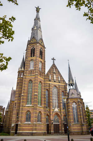 Eindhoven, the Netherlands - 15.09.2015: The Sacred Heart Church, an ancient Catholic church located in the center of the city Editorial
