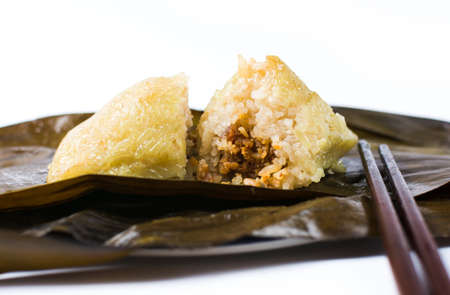 Zongzi, traditional Chinese food usually prepared for the Dragon Boat Festival