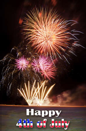 wildwood: Happy 4th of Jully with fireworks over a beach