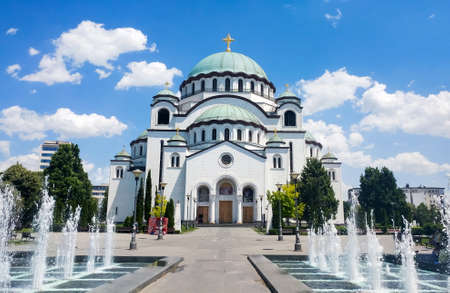 belgrade: Church of Saint Sava in Belgrade, Serbia, one of the largest Orthodox churches in the world